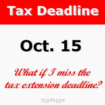 What if I miss tax extension deadline